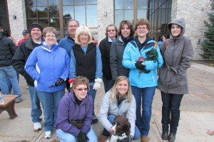 Catanese Group staff and family members brave the cold to join in on Johnstown's 2014 walk.